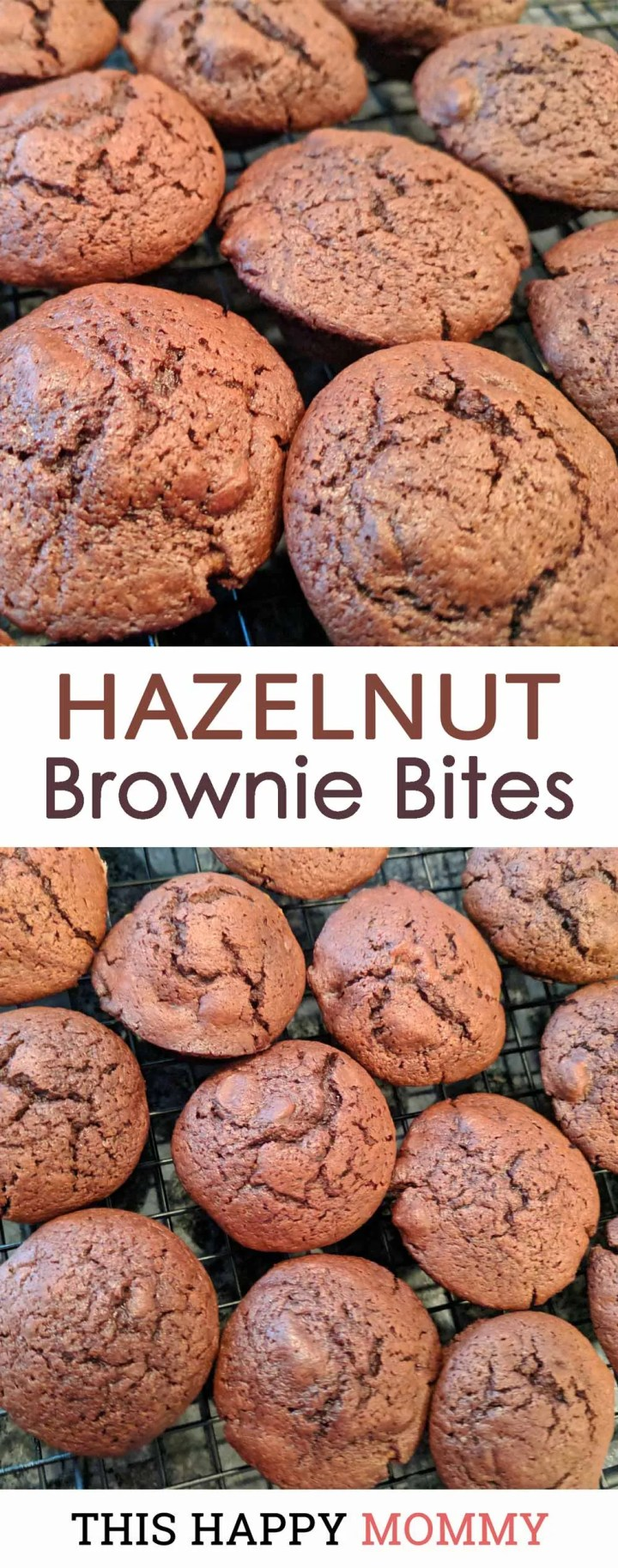 Decadent, chocolatey brownies that are sweet, satisfying, and yes, low fat. Best of all, Hazelnut Brownie Bites are so moist and chocolatey, no one will ever know that they are skinny desserts. Healthy Homemade Brownie   #recipe #dessert #chocolatedessert   this happymommy.com