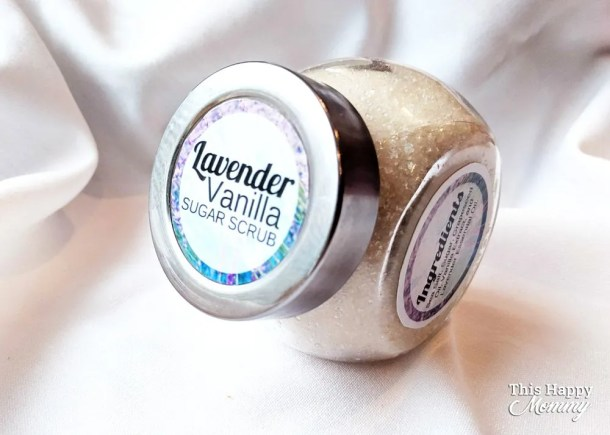Give the gift of pampering! With only five ingredients, Lavender Vanilla Sugar Scrub can exfoliate your skin, leaving it softer and smelling of lavender. Talk about a great gift! | DIY gift | Easy DIY gifts | Unique DIY gifts | creative DIY gifts | DIY craft gifts | last minute gifts | #gifts #bestgift #diygift #birthdaygift | thishappymommy.com