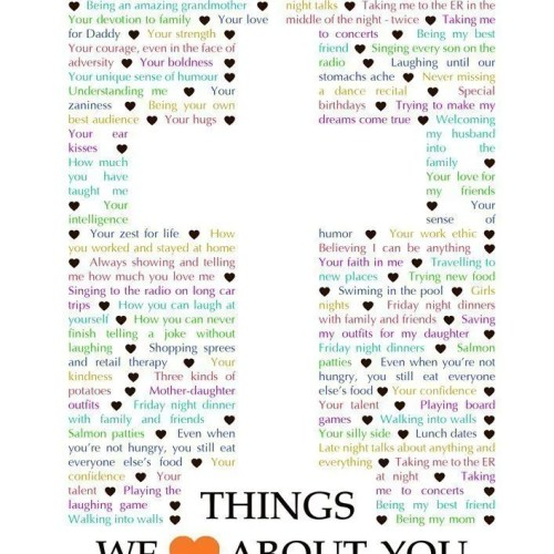 Things We Love About You - Cross Edition - best DIY gift for spiritual person - Faith birthday gift - Christmas gift - Mother's Day - Father's Day