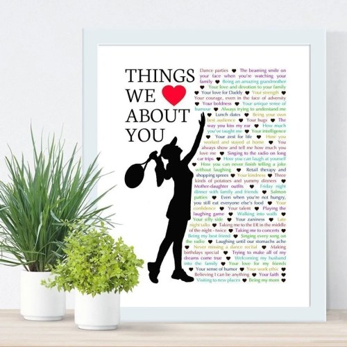 Things we love about you tennis edition - the perfect gift for the tennis lover in your life. Fill the gift with words, memories, and things you love about them for a wonderful one-of-a-kind gift. | anniversary gift | birthday gift | thishappymommy.com
