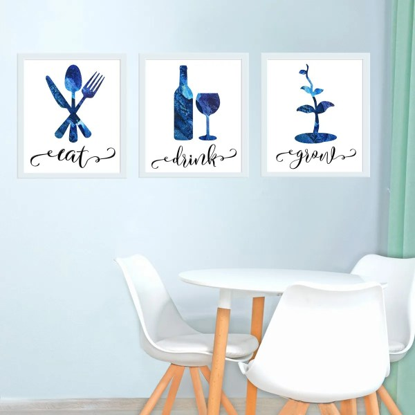 Eat, Drink, & Grow - Kitchen Wall Art