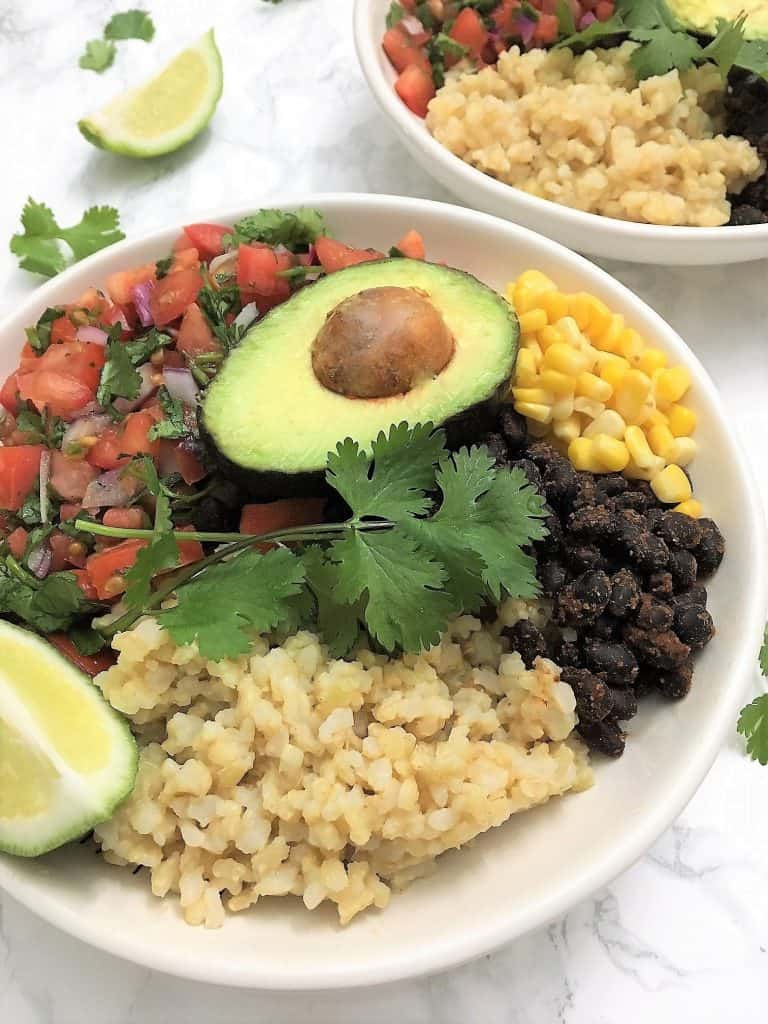 Oil Free Mexican Inspired Taco Buddha Bowl