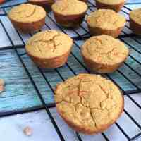 Healthy Carrot Cake Muffins [V+GF+Oil Free]