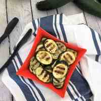 Lemon Herb Grilled Zucchini - Oil Free