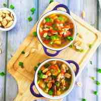 Thai Peanut Chickpea Soup Instant Pot