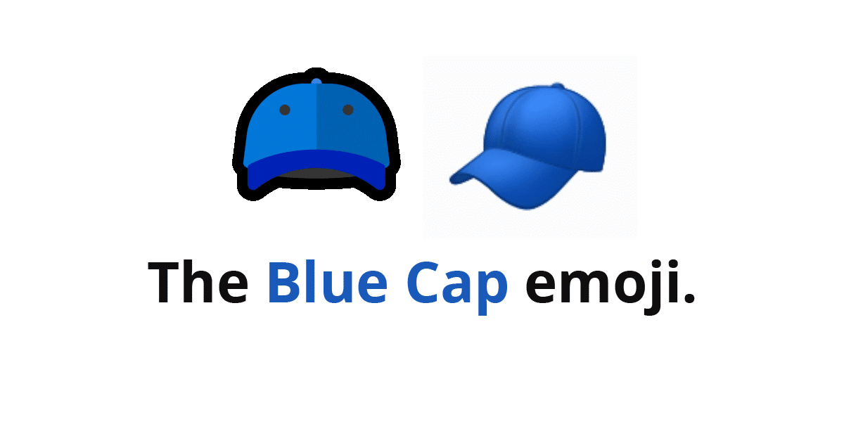 What Does The Blue Cap Emoji Mean
