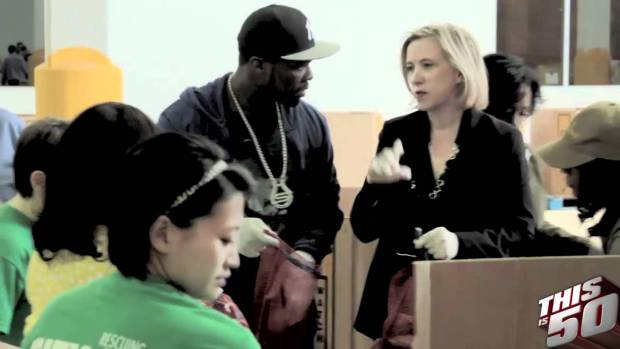 50 Cent & SMS Audio Team up With City Harvest & Feeding America   50 Cent Music