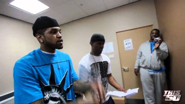 "50 Cent x G-Unit in Birmingham – Lloyd Banks and DJ Whoo Kid ""Beamer, Benz, or Bentley Rehearsal"""