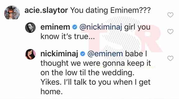 nicki minaj confirms shes dating eminem 13 reason why characters dating