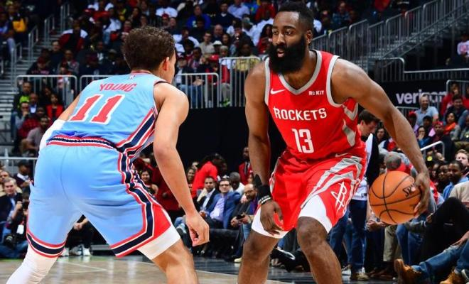 7573344825e0 James Harden makes NBA history with latest 30+ point game
