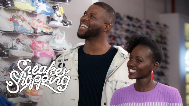 """""""Us"""" Stars Lupita Nyong'o And Winston Duke Go Sneaker Shopping With Complex"""