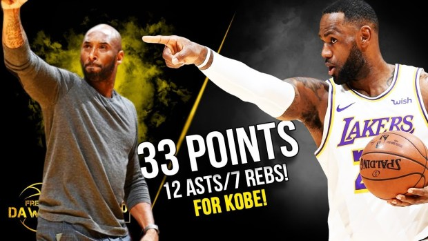 LeBron James Puts On a SHOW For Kobe