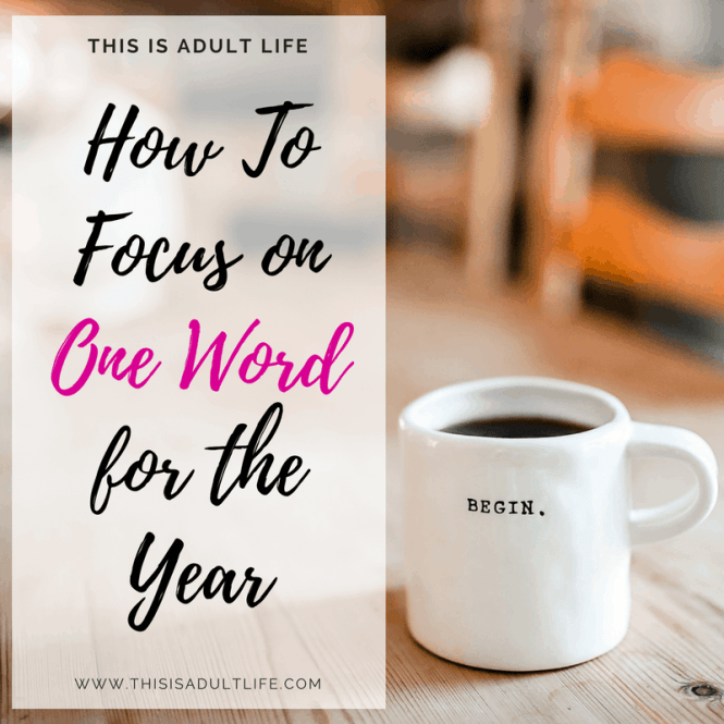 Focus on one word for the new year