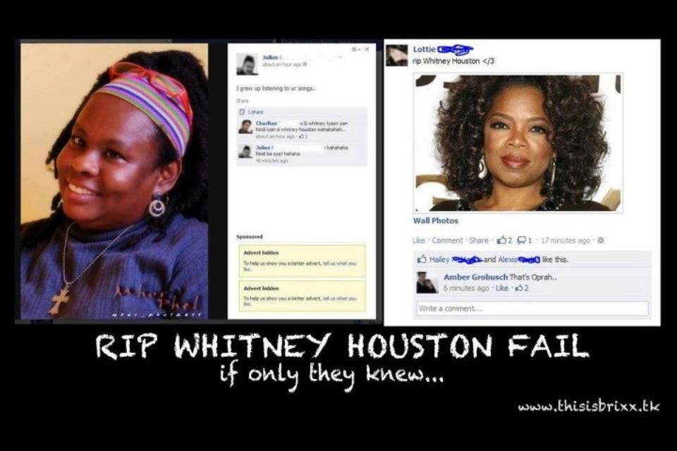 RIP Whitney Houston Fail