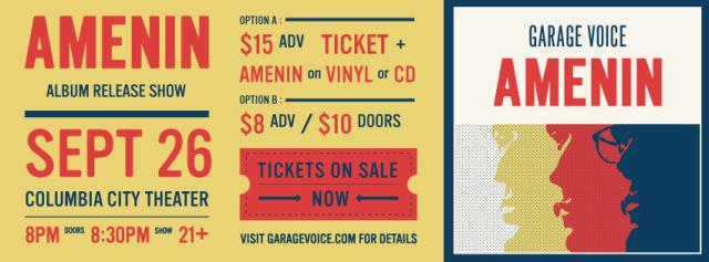 Garage Voice AMENIN Album Release