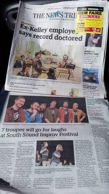 Fools Play Improv in The News Tribune
