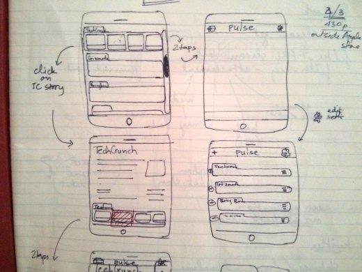 LinkedIn Pulse Early Prototype