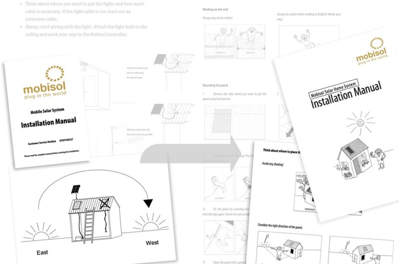 Market Adaption 03: Installation manuals before and after user co-creation