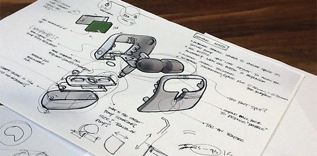 SwipeSense IDEO sketches