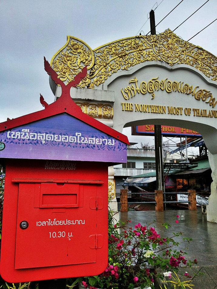 Mae Sai's postbox, at the border of Thailand-Myanmar