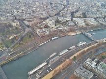 River Seine from Eiffel Tower, Paris.
