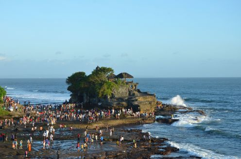 Tanah Lot from above, Bali Indonesia.