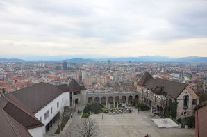 Ljubljana town from the Castle's Tower.