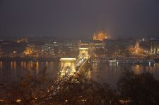 The Széchenyi Chain Bridge charmed onlookers from Castle Hill, Budapest.