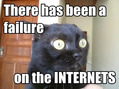 Failure INternets lolcat