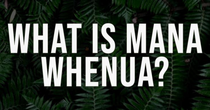 What is mana whenua?