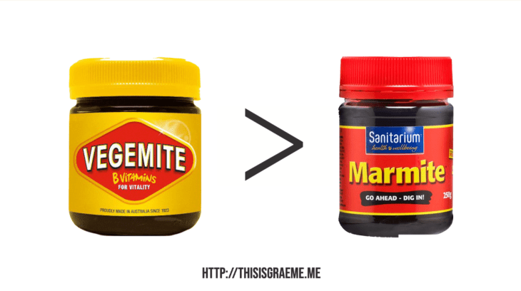 Only Kiwi and Aussies Understand That There Are Only 2 Choices And Both Are Vegemite Marmite