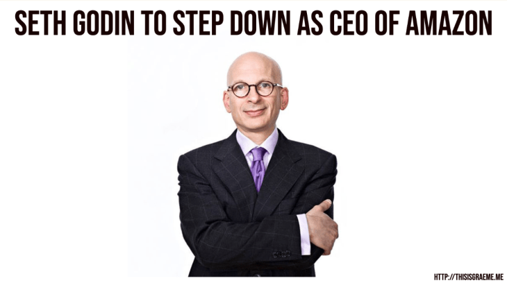 The Bezos-Godin Doppelgänger effect is strong with this one  Jeff Bezos is Seth Godin