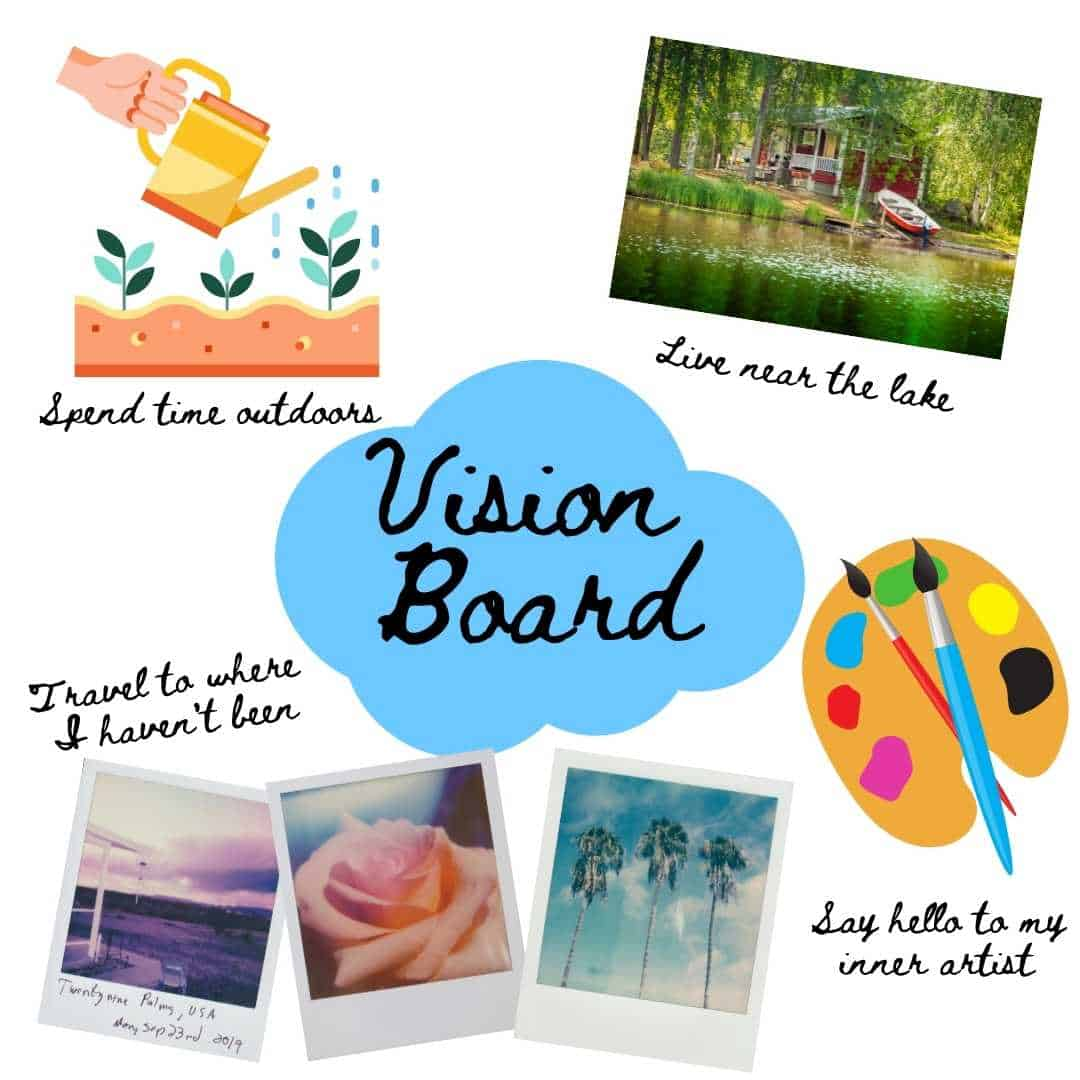 intention vision board
