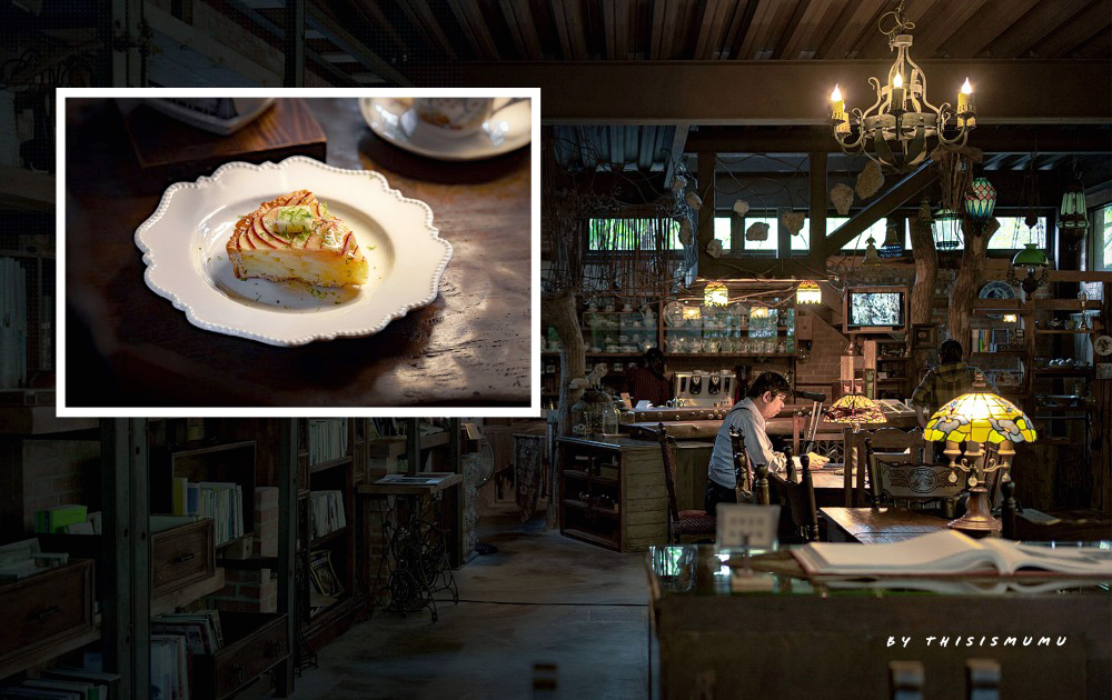 新竹美食推薦:自然在家書坊|藏身在尖石山林裡的咖啡廳秘境,儼如電影場景。
