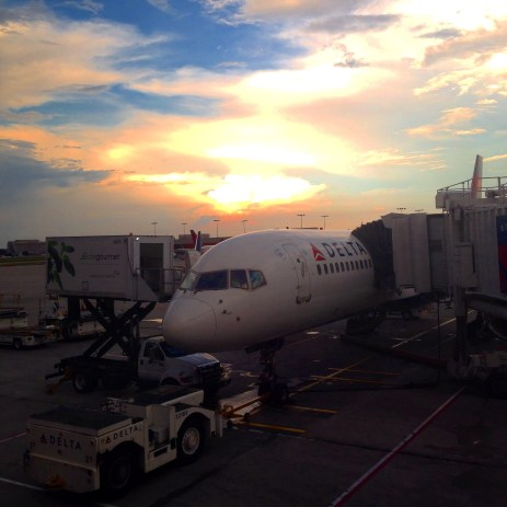 Delta plane at the ATL gate