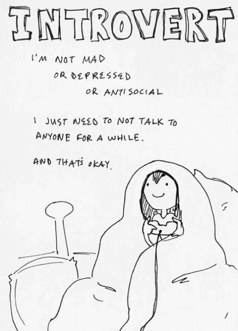 Introverts are normal people too.