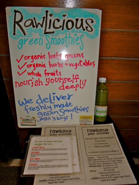 Rawlicious Planet green smoothies