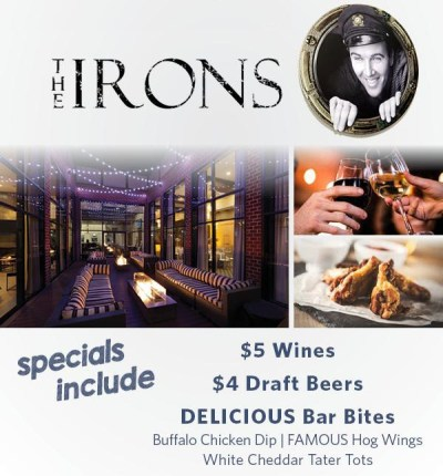 the irons happy hour