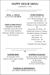Chapter One Happy Hour