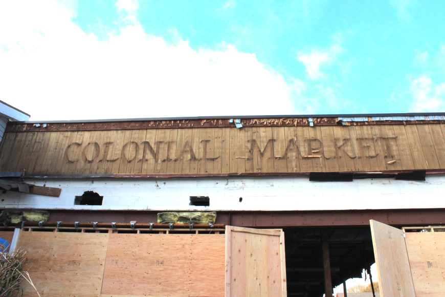 Old IGA Colonial Market sign