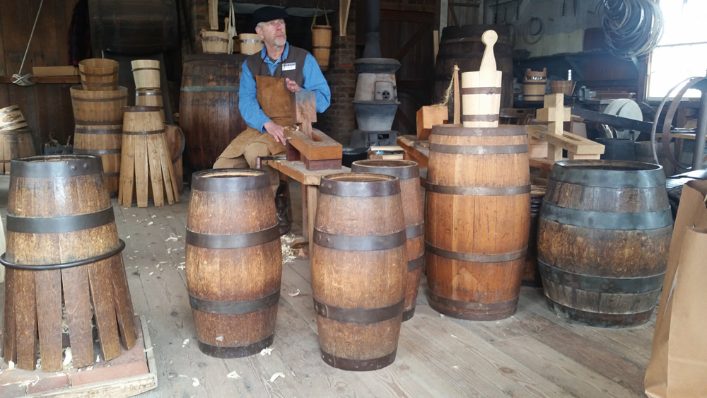 cooperage at Mystic Seaport