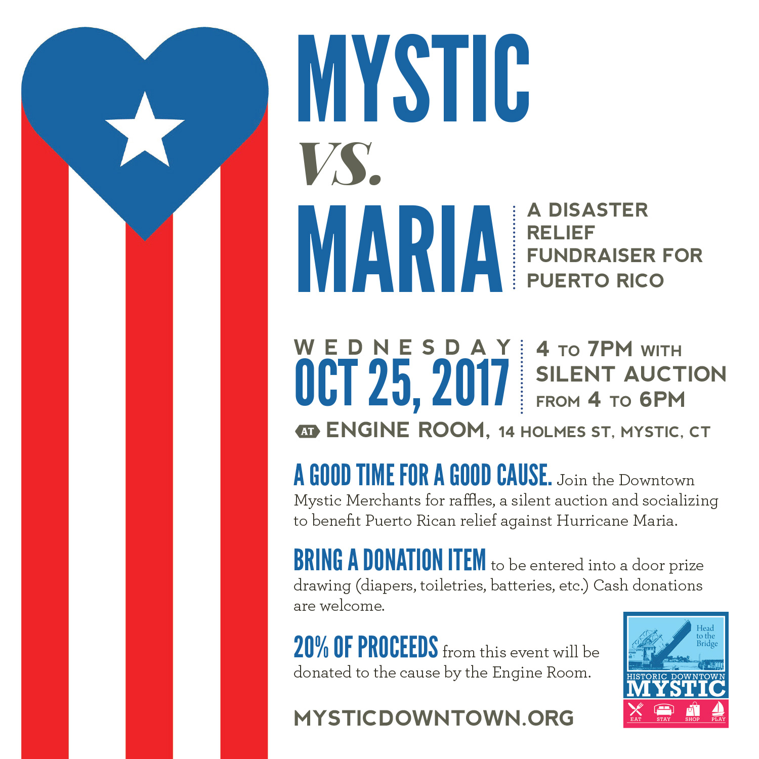 Mystic vs Maria A Fundraiser for Puerto Rico at Engine Room in