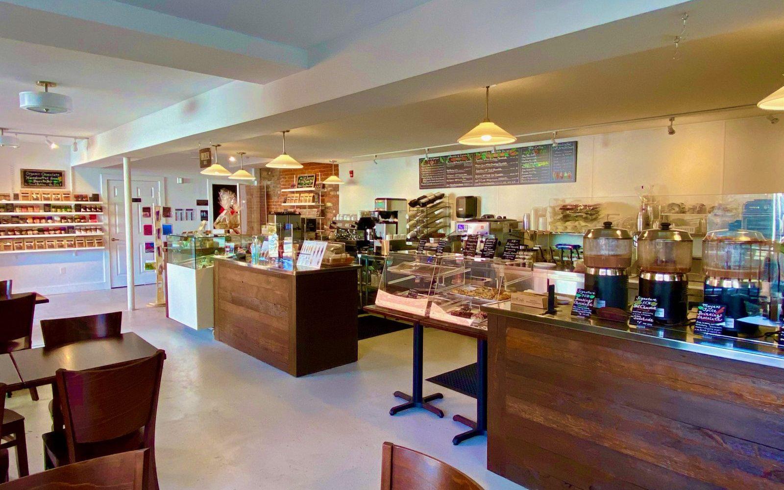 Mystic River Chocolate Cafe Interior