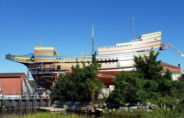 Mayflower II restoration August 2019