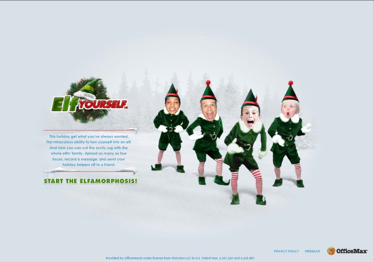 Elf Yourself This Is Not ADVERTISING