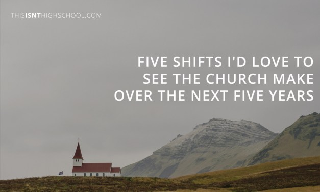 Five shifts I'd love to see the Church make over the next five years