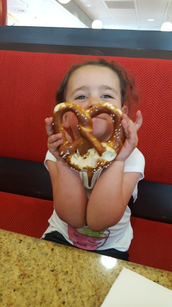 We didn't leave Germany without a pretzel!