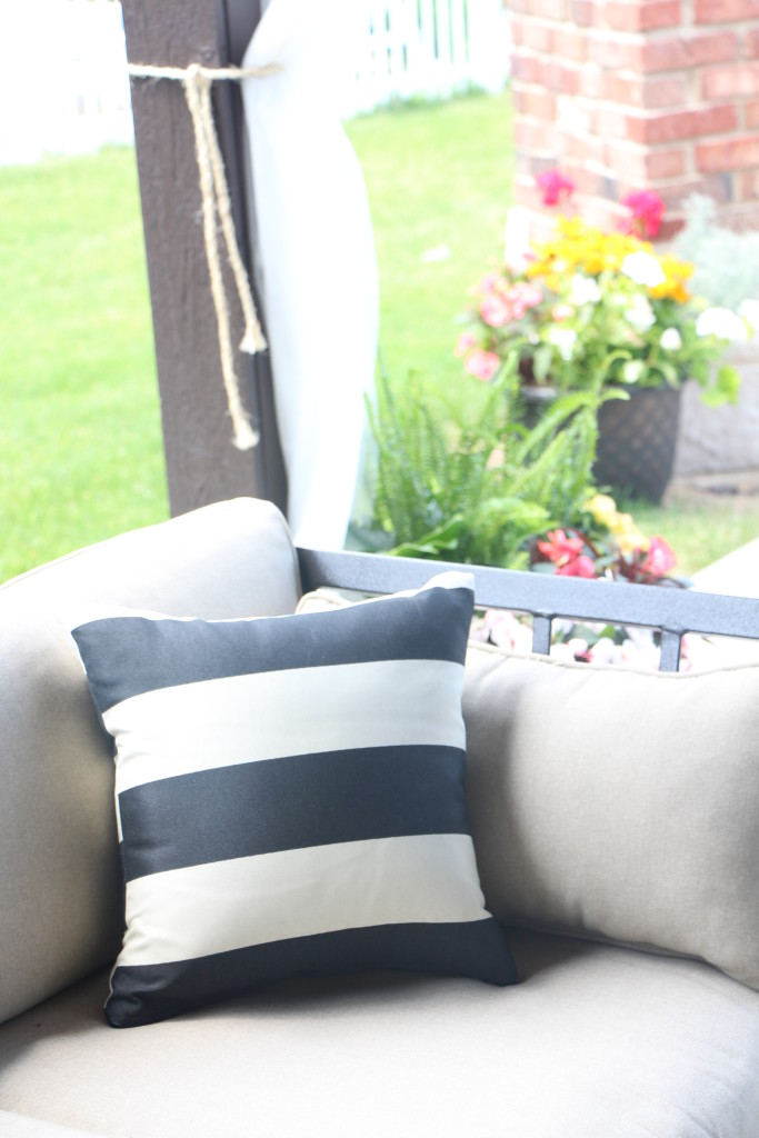 outdoor oasis | DIY outdoor patio curtains | This is our Bliss