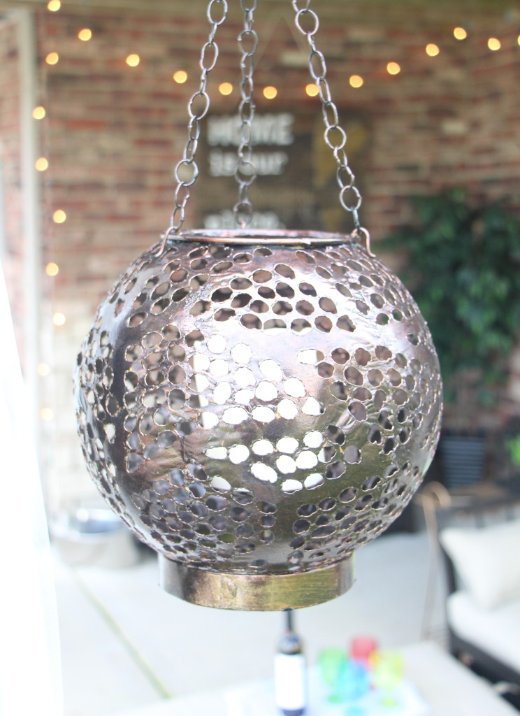 DIY outdoor decor | Outdoor oasis | hanging lanterns | This is our Bliss