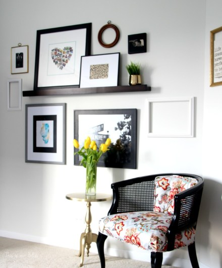 Guestroom revamp - gallery wall - picture ledge - minted - This is our Bliss
